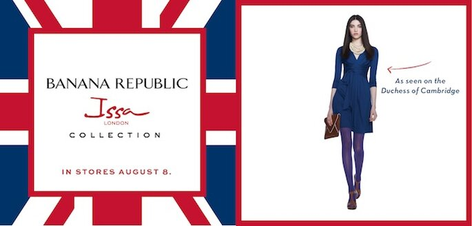 Tudo preparado para o lançamento de uma nova versão do vestido de noivado de Kate Middleton. Foto: Banana Republic Facebook