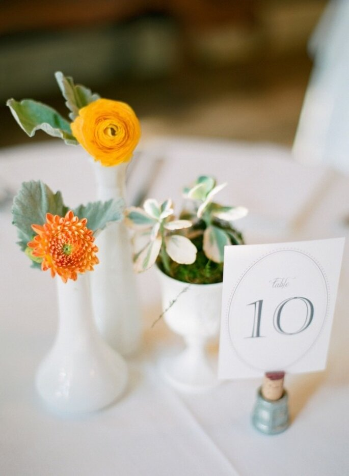 Los colores perfectos para decorar una boda en 2015 - Foto Sara Hasstedt Photography