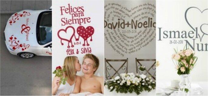 Vinilos para la decoración de tu boda - www.proyectovinilo.com