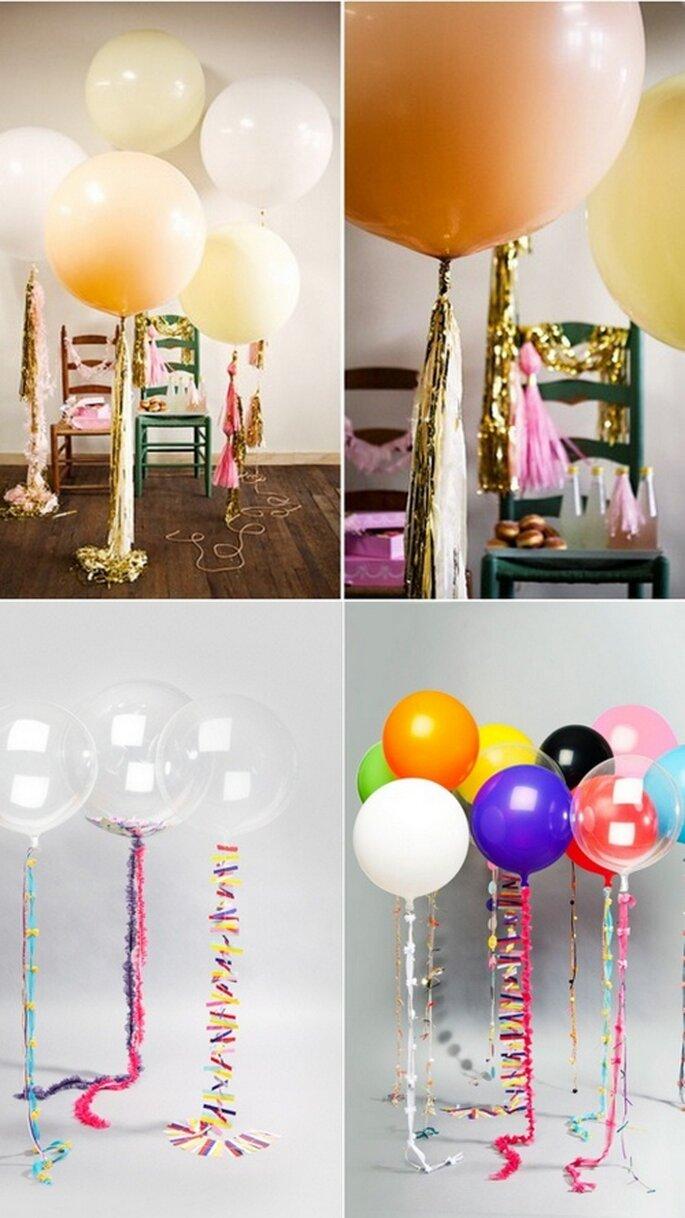 Decoración de boda temática con globos. Foto: stefansisters.blogspot.mx