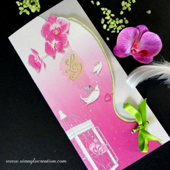 Faire-part de mariage Envolée magique - Vinnylu Création