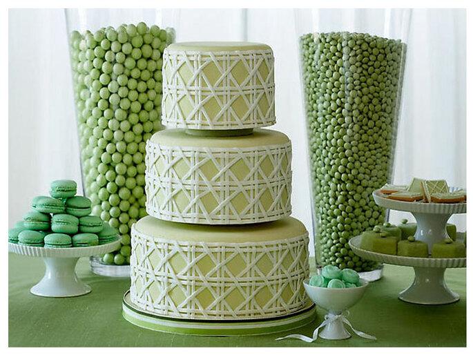 Torte nuziali color verde acceso - Fonte: Matrimonio.it