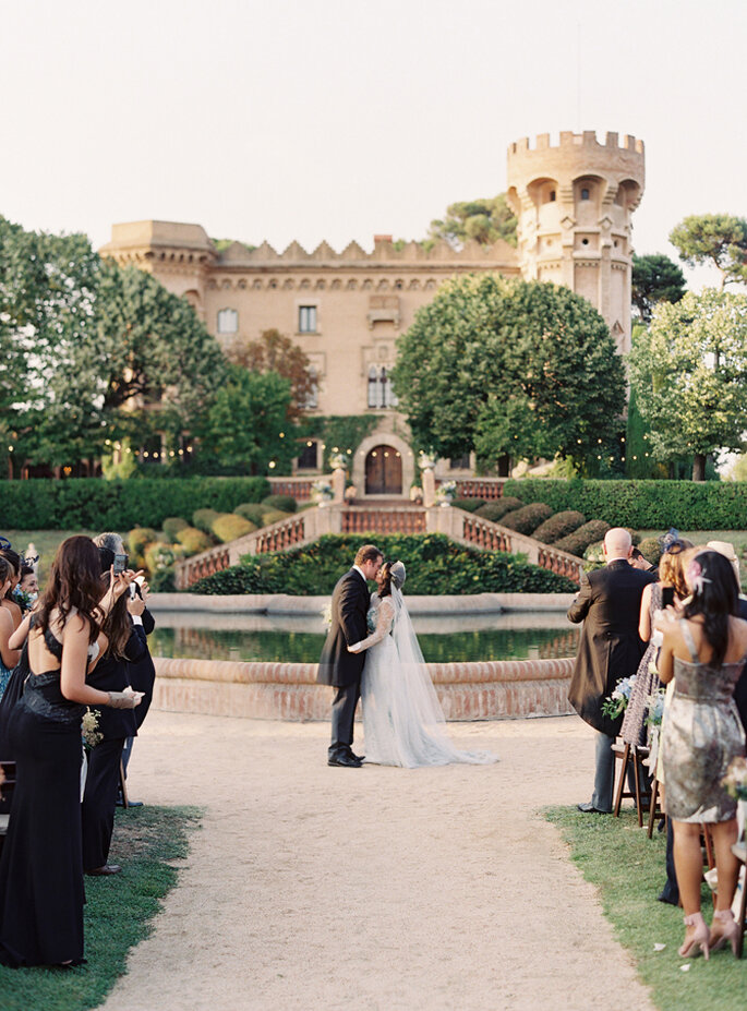 Boda elegante en un castillo de Barcelona. Foto: Bryce Covey Photography