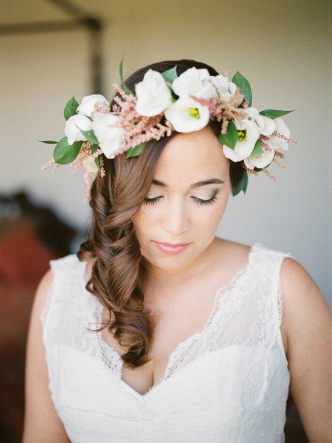 Tendencias en peinados de novia 2015 - Foto André Teixeira de Branco Prata