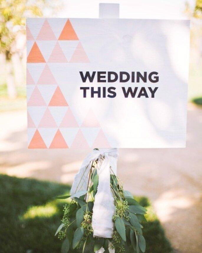 Hier geht's lang, Foto: Martha Stewart Weddings