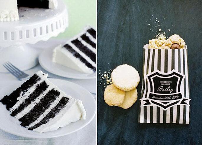 Un delicioso pastel de boda engalanado con este patrón - Fotos Whisk Kid y Landon Jacob Photography