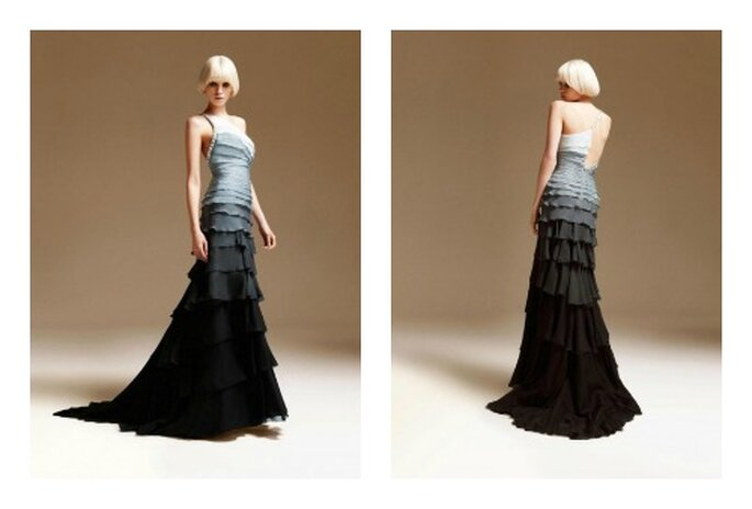 Blanco, gris y negro 'ombré'. Foto: Versace
