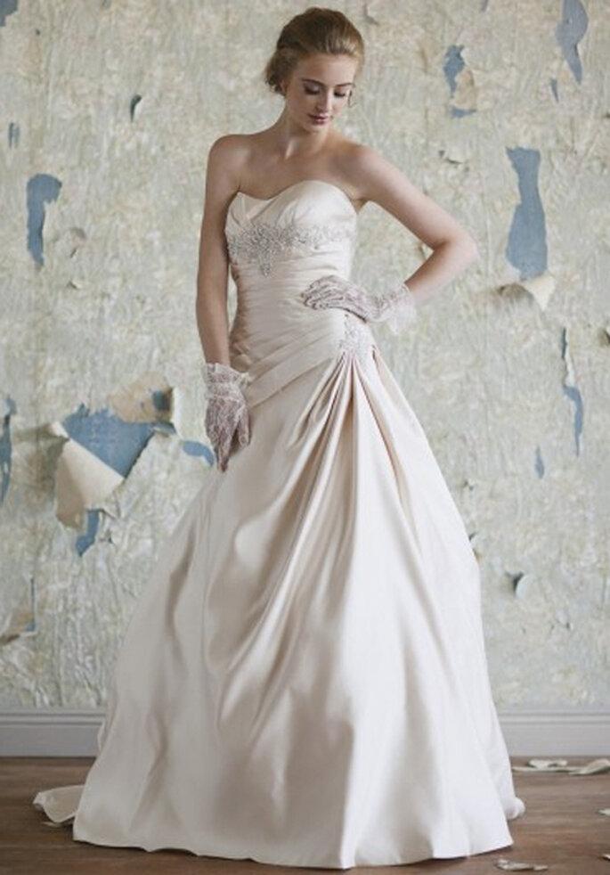 Elegante vestido de novia de estilo vintage - Foto: Ruche
