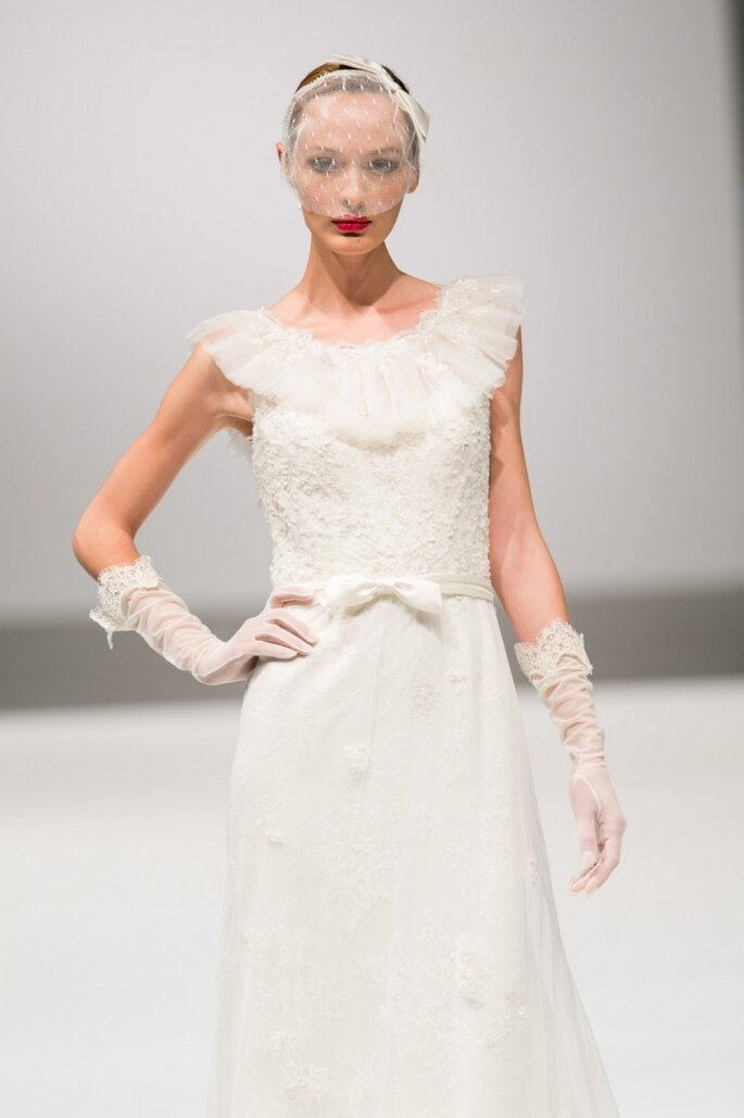 Robe de mariée Lusan Mandongus. Photo ©SiSposaItalia via Press Office Fiera Milano