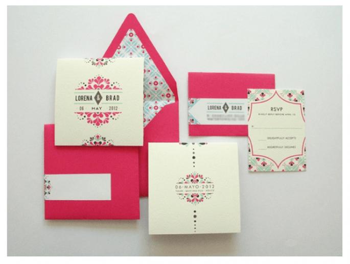 Invitaciones súper originales para el día de tu boda - Foto Lizzy B Loves