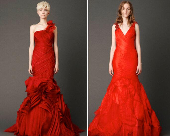 Robes de mariée de couleur rouge - Photographies: Vera Wang 2012