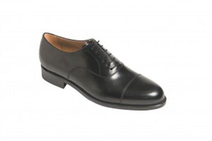 Zapato de cordones enterizo en piel de ternera forrado en piel