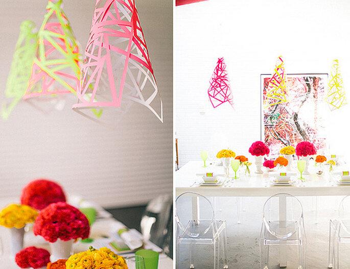 Puedes hacer que tus lámparas vaya acorde con el resto del decorado. Fotos de Cathrin d'Entremont