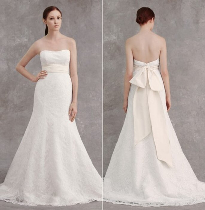 Cinturón grueso en color crema para el vestido de novia - Foto Nordstrom