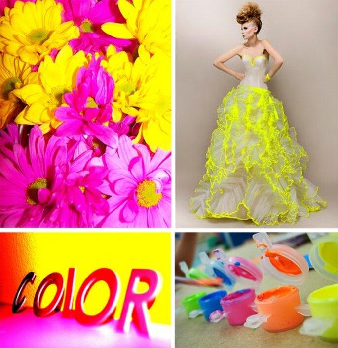 Decoración de boda con tendencia neon - Foto Max Chaoul Couture, sleepfordays, kol. y Mindsay Mohan en Flickr