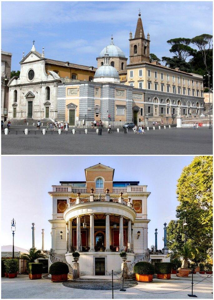 Basilica di Santa Maria del Popolo e Casina Valadier