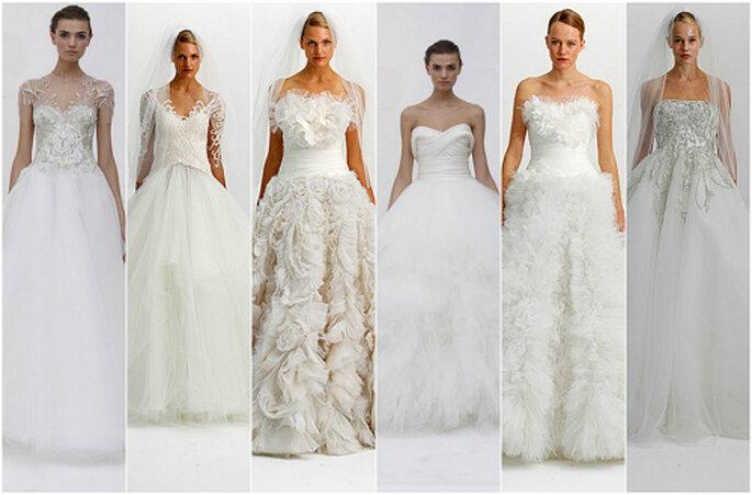 Vestidos de novia con falda abultada, de Marchesa