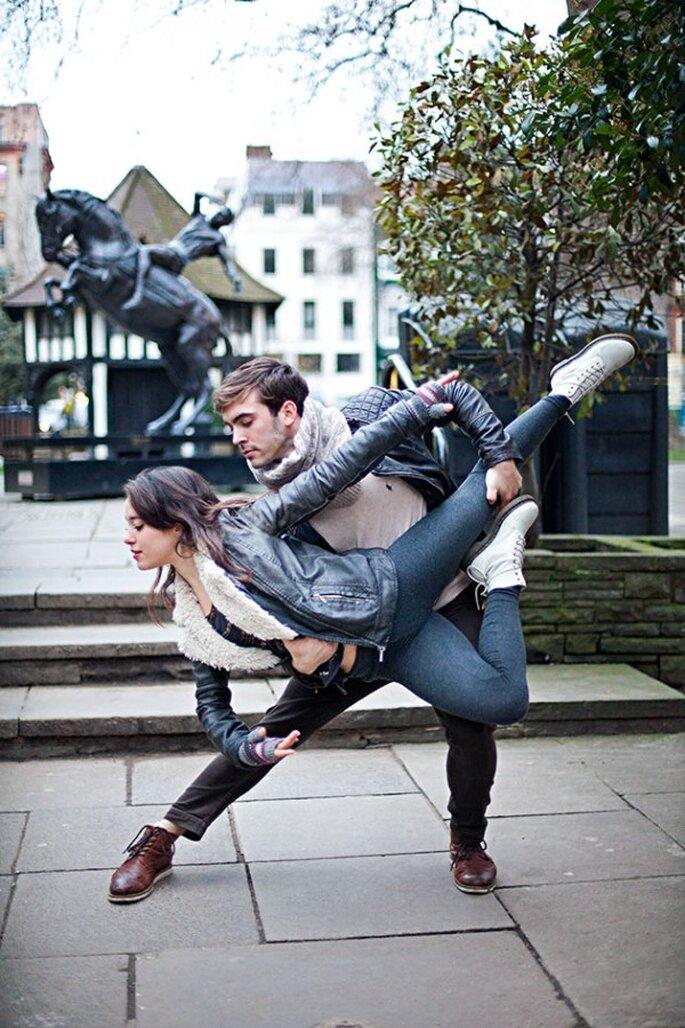 Sesión de fotos pre boda inspirada en los pasos de ballet - Foto Sandra Marusic Photography