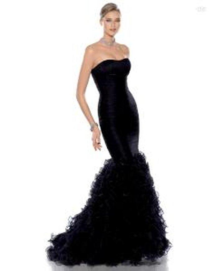 Pronovias Cóctel 2010 - Julia, vestido negro de corte sirena, escote en forma de corazón palabra de honor
