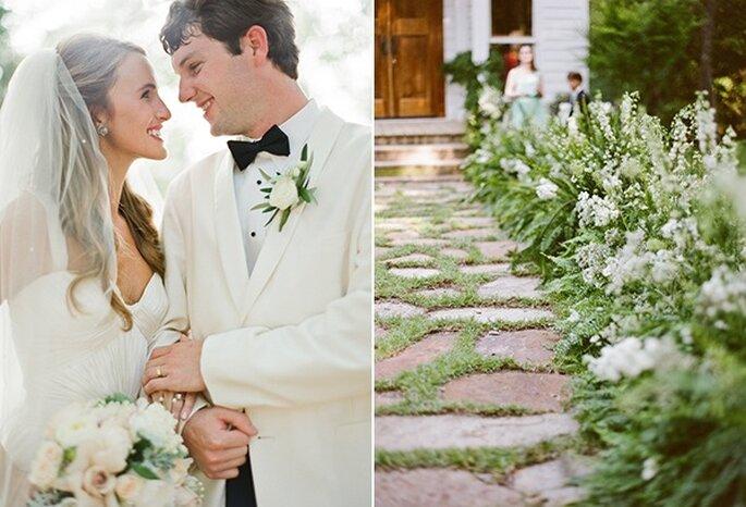 Real wedding: una boda encantadora en un mágico jardín con acentos ...