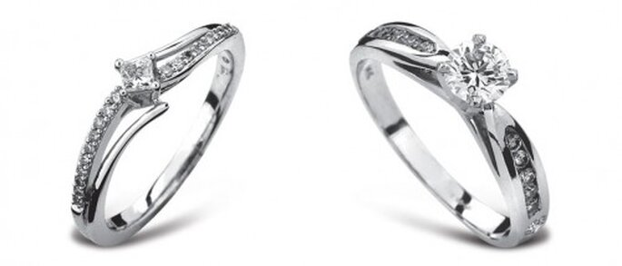 Anillos de compromiso con diamante solitario - Foto Guvier joyería y relojería