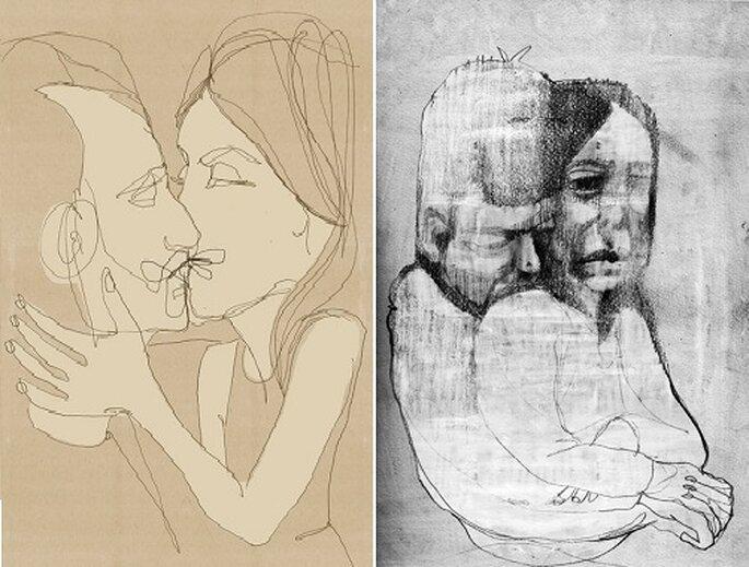 Un dibujo puede convertirse en el regalo de novios perfecto. Fotos: Dibujo a domicilio.