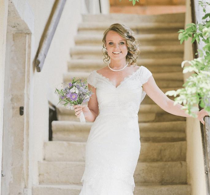 Ramos de novia en color morado. Fotografía Nadia Meli