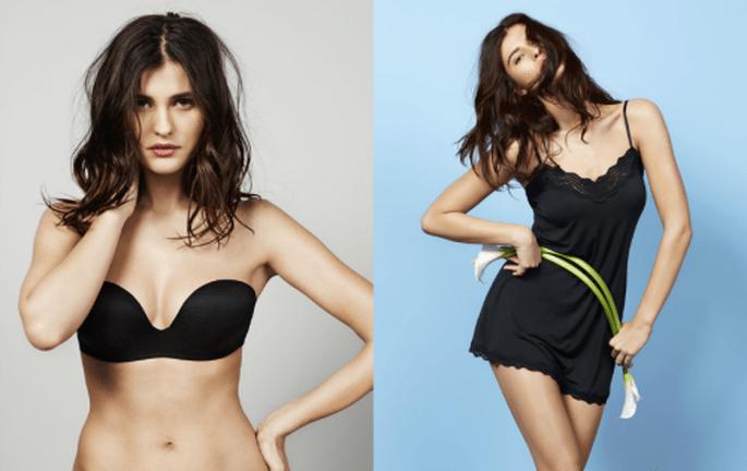 Conjuntos de lencería sexy y original en color negro - Foto Women's Secret