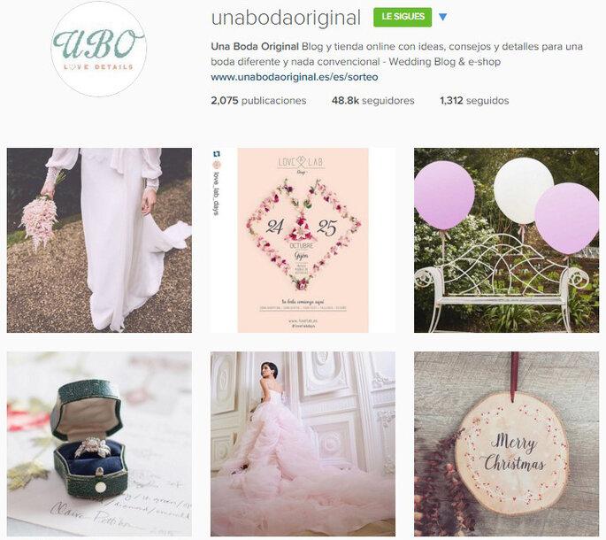 Foto vía Instagram Una Boda Original