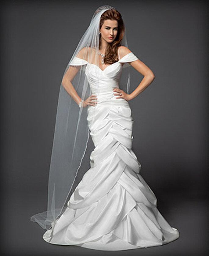 Vestido de novia estilo sirena en capas - Foto: Colección Rami Kashou para Bebe