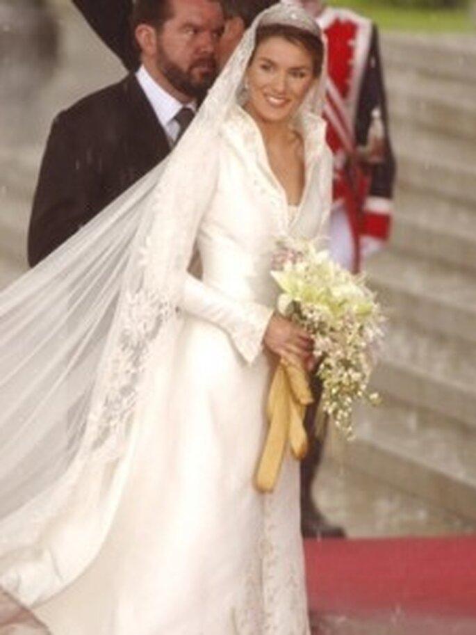 Vestido de novia de Doña Letizia diseñado por Pertegaz