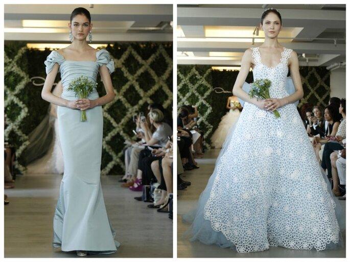 Robes de mariée Oscar de la Renta 2013 de couleur bleue