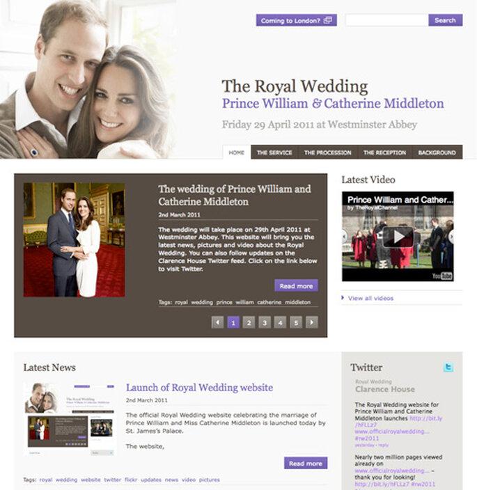 Web oficial de la boda del año