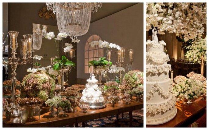 Flores hermosas en blanco. Fotos de Boutique de 3.