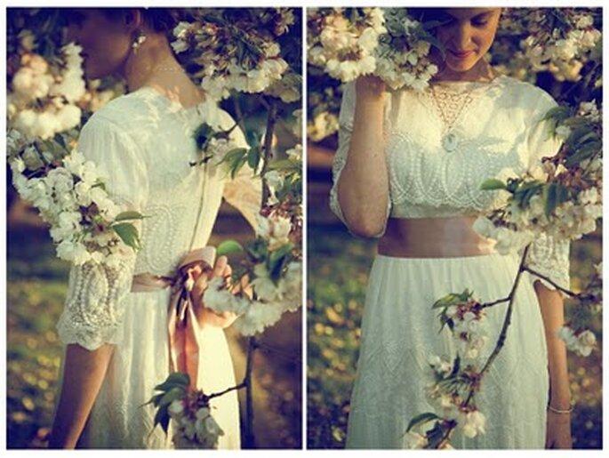 Una sposa vintage. Foto: matrimonioperfettoblog.com