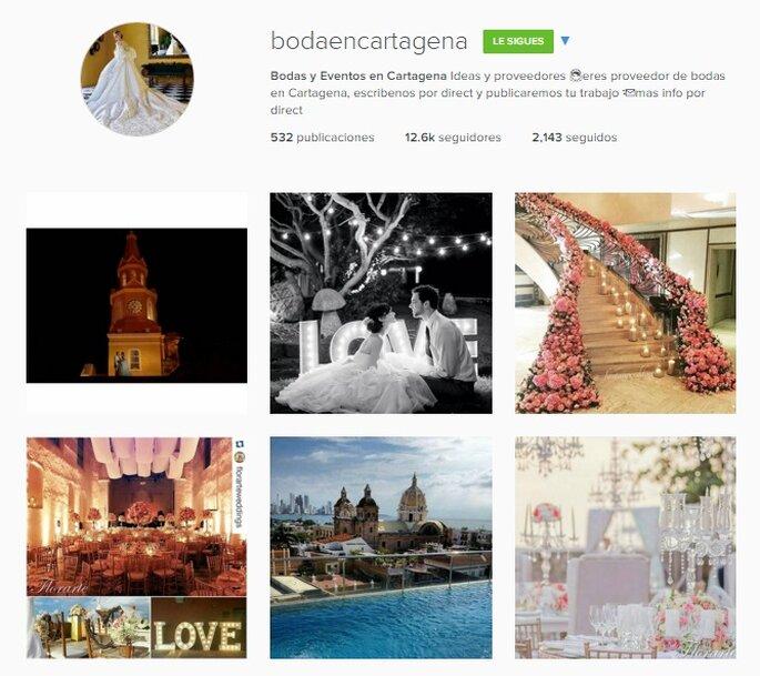 Imagen Vía Instagram Boda en Cartagena