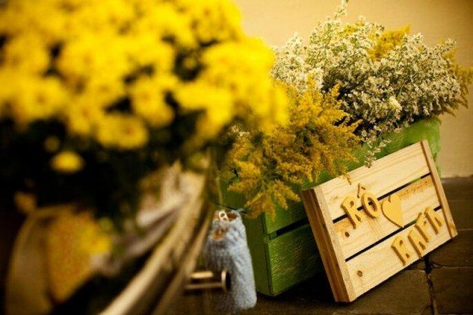 Cajas para la decoración. Foto de Daniela Picoral