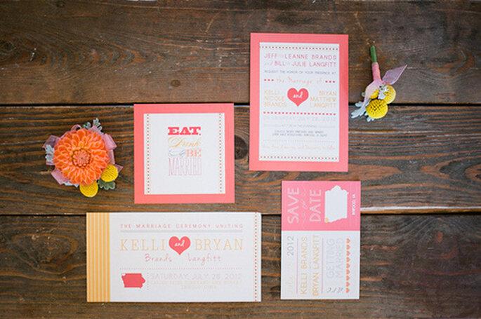 individuelle Hochzeitskarten für den Sommer