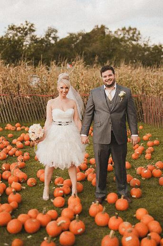 Adornos de bodas de otoño. Foto de Sweet Little Photographs