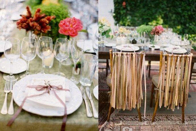 dekoracje stołów w stylu rustykalnym