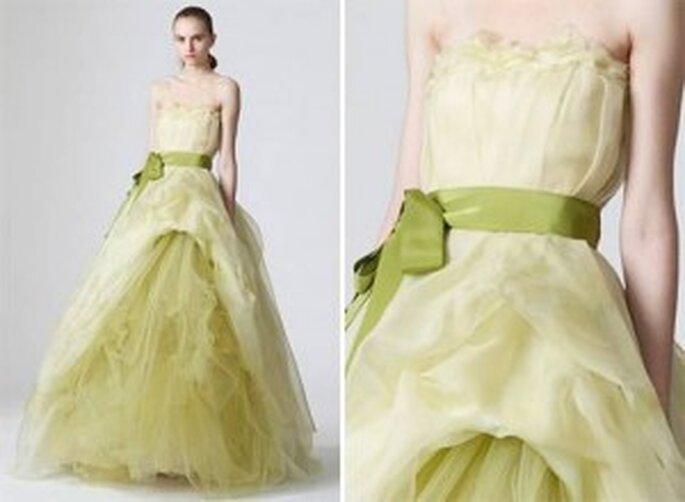 Vestido novia verde