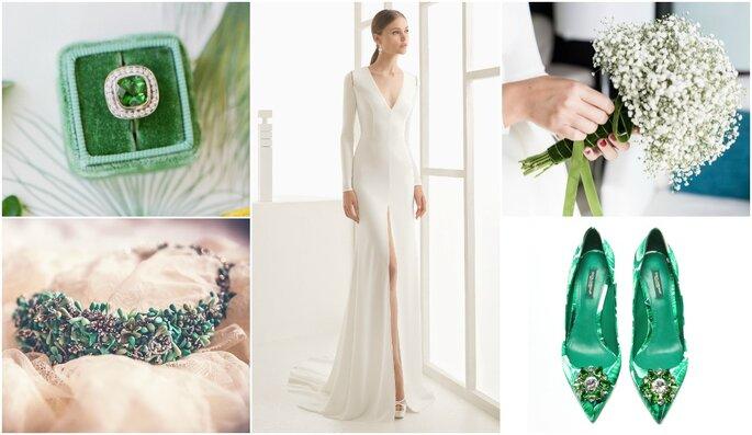 Look de la semana:  novia con toque greenery