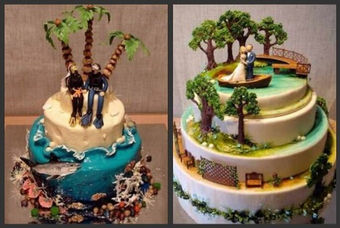 Pastel de bodas temáticas