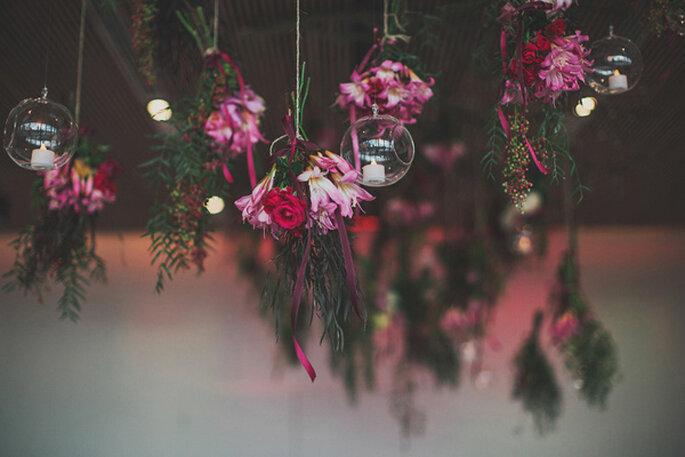 Decoración suspendida para bodas - Foto Ben Adams