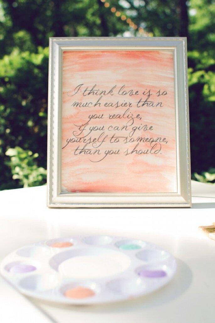 Idées pour intégrer de jolis coups de pinceaux à votre décoration - Photo Amy Nicole Photography