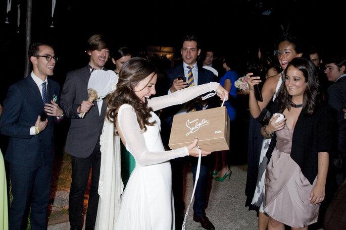Paula durante la celebración de la boda. Foto Click10
