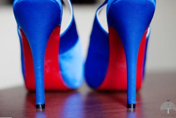 Zapatos de novia. Foto de Jen Lynne.