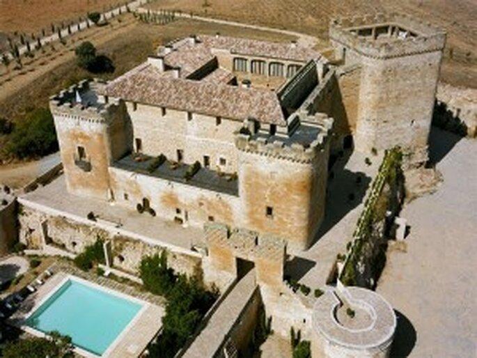 Luna de miel en España en un castillo medieval.