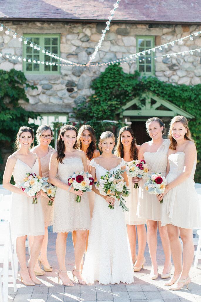 Damas de honor para la boda. Foto-Erin McGinn