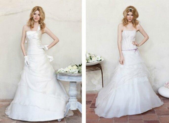 Ancora due modelli romantici ed essenziali della Collezione 2012 di Nicole Spose